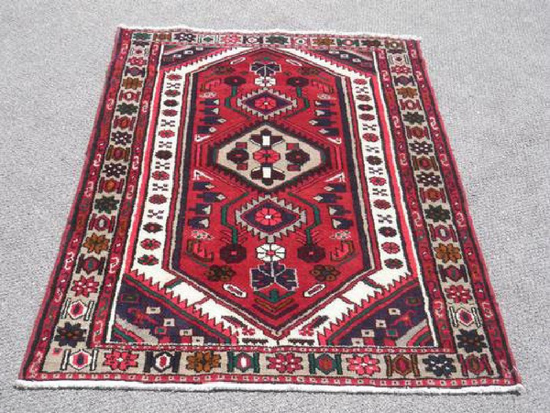Highly Detailed Hand Woven Persian Hamadan Rug 5.1 X