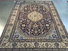 Authentic Silk  Wool Persian Nain Rug 8x11