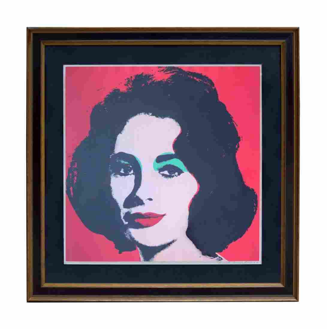 Andy Warhol Liz Taylor Lithograph