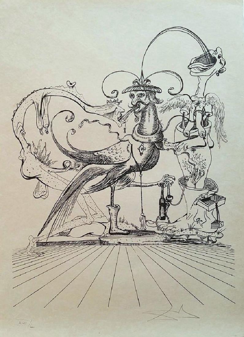 Salvador Dali Lithograph Les Songes Drolatiques