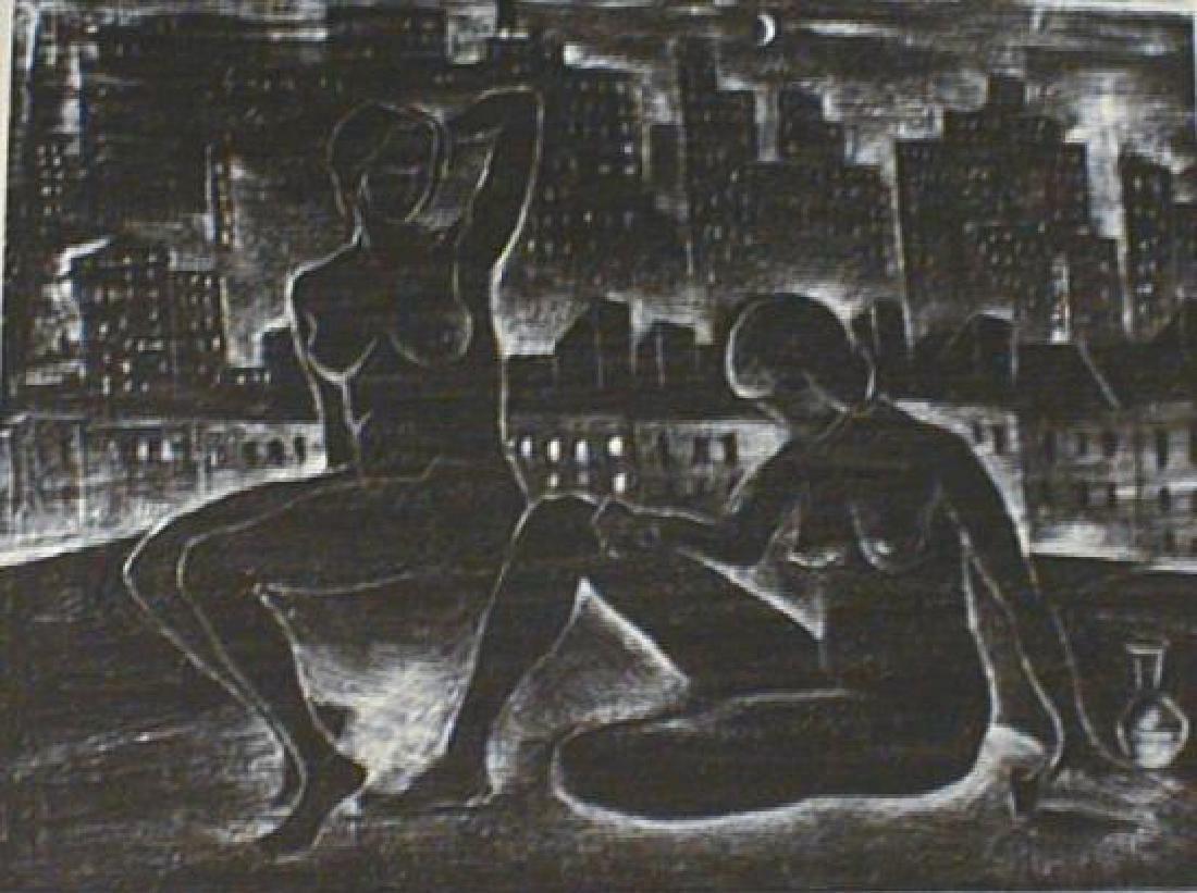 Vera Andrus Nocturne Lithograph