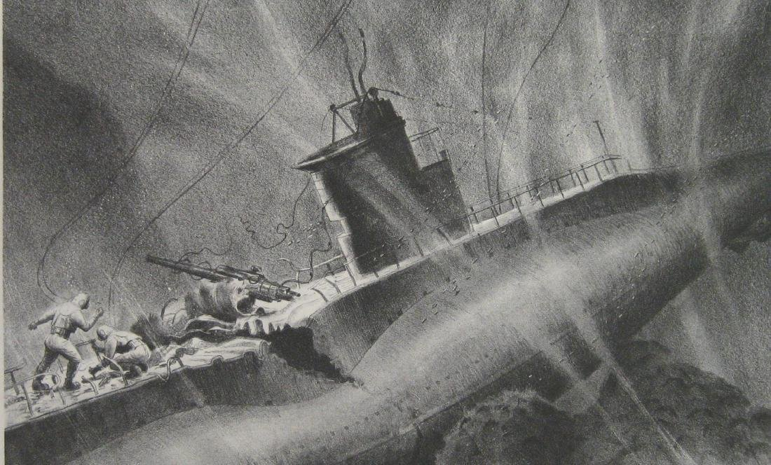 James Allen Submarine Lithograph