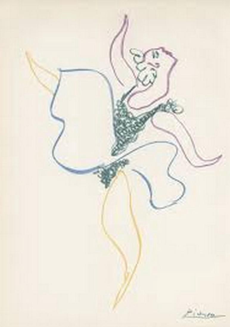 Pablo Picasso Danseuse Lithograph