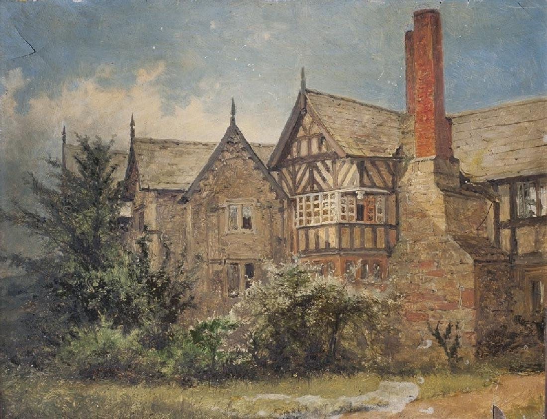 Benjamin William Leader Painting English Cottage