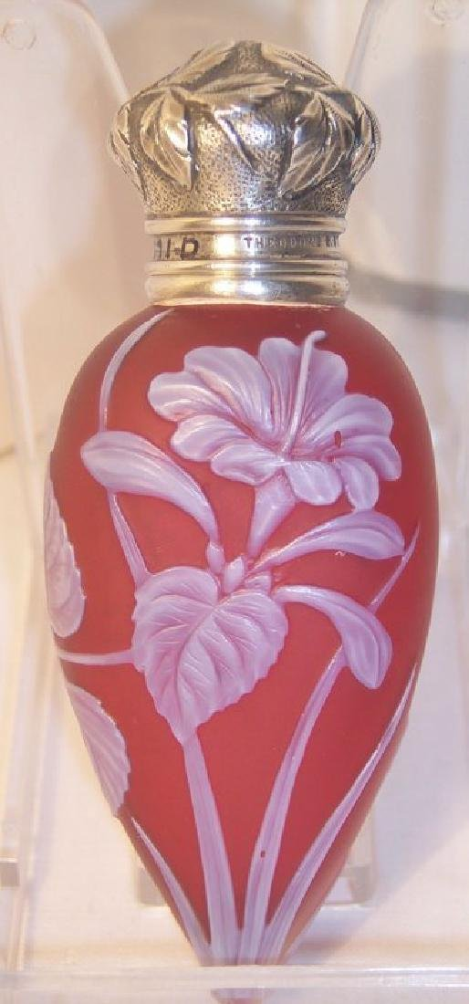 Webb Cameo Glass Perfume Scent Bottle Theodore B. Starr