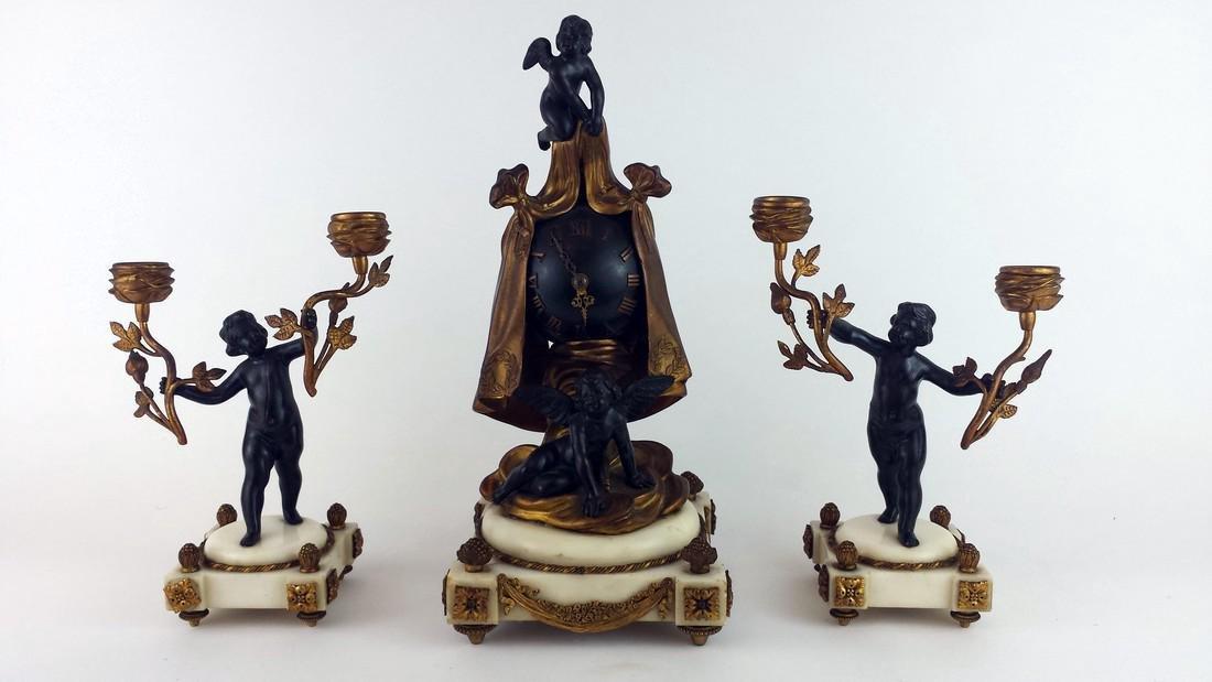 French Empire Style 3 Piece Garniture Set
