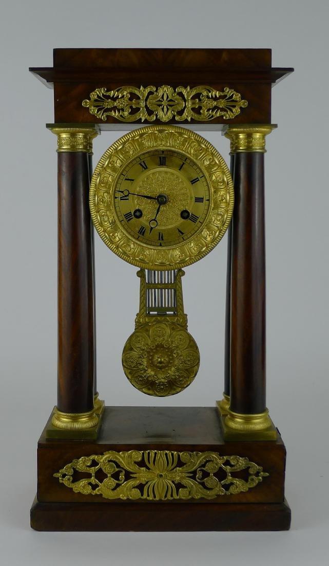 French Regency Style 4 Pillar Clock