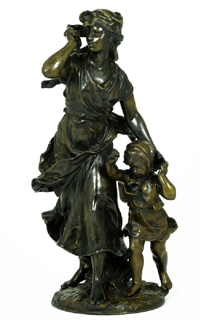 Hippolyte François Moreau Bronze Sculpture