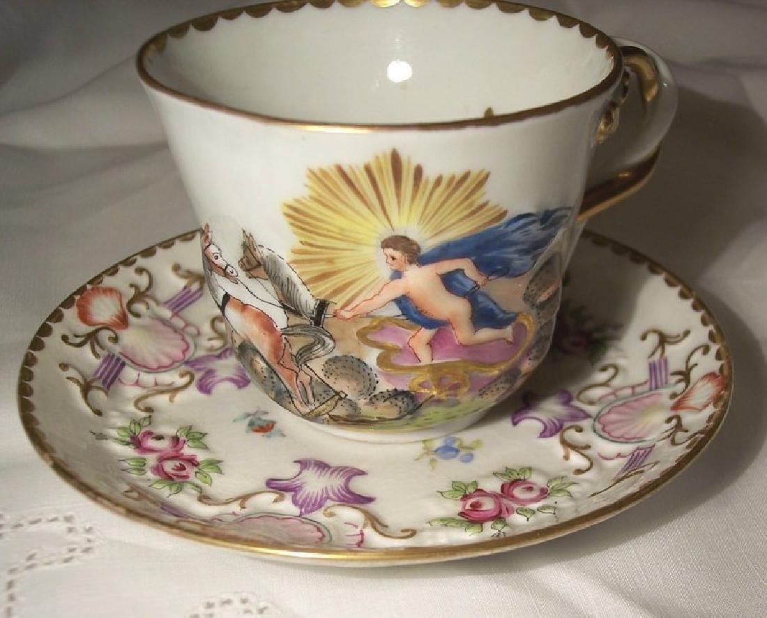 Italian Porcelain Capodemonti Ginori Cup & Saucer