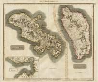 Thomson: Antique Map of Martinique & Dominica, 1817