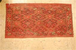 Antique Caucasian Soumak Kilim Flat Woven Rug 16x29