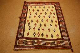Fine Persian Shiraz Qashkai Sofreh Kilim Rug 4x54