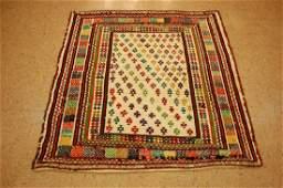 Fine Persian Shiraz Qashkai Sofreh Kilim Rug 42x44