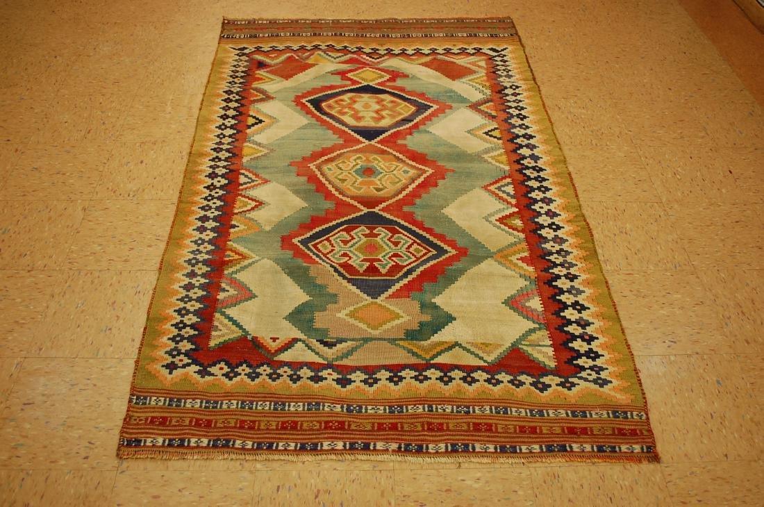 Persian Shiraz Qashkai Kilim Flat Woven Rug 4.3x7.1