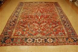 Antique Persian Heriz Serapi Rug 7.5x9.11