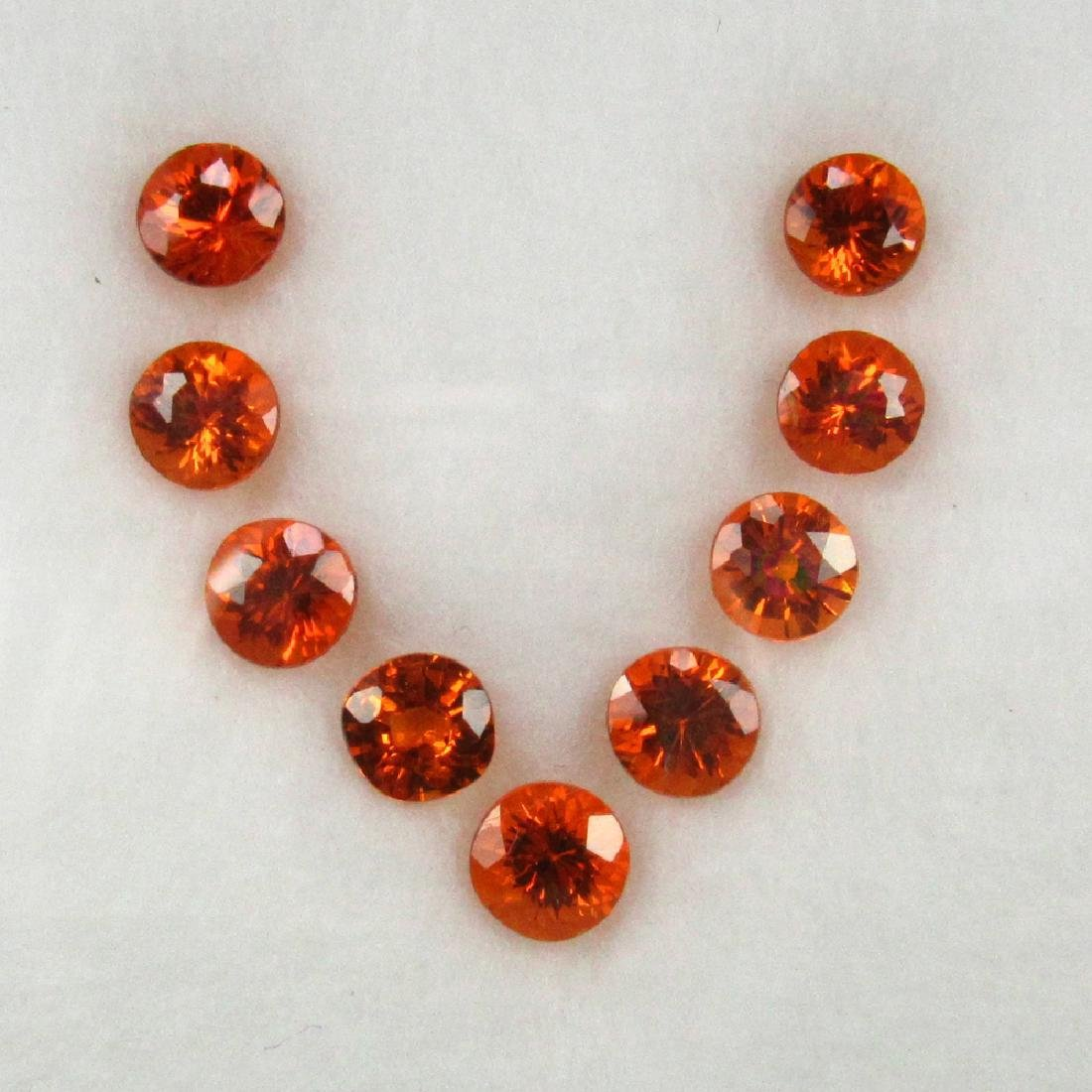 4.69 Carat Loose Spessartine Garnet Necklace Set