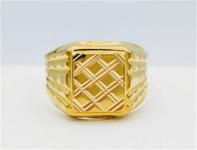 21K Pure Gold Gentlemens Ring
