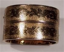 Antique Pair Victorian 14K Gold Enamel Bracelets