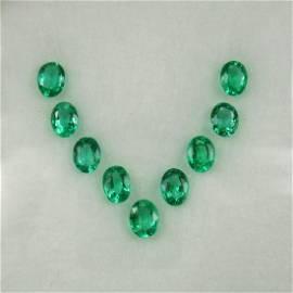1.70 Carat Loose Zambian Emerald Necklace Set