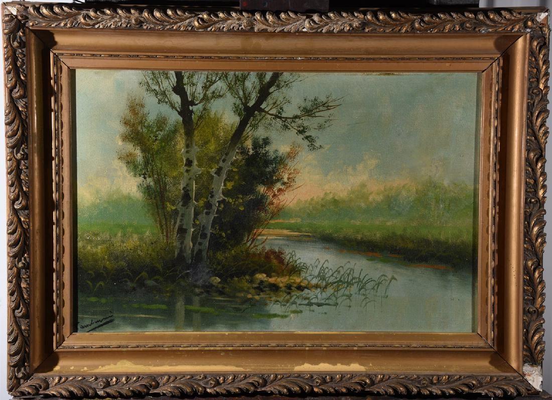 Jose Maria Tamburini Landscape Oil Painting