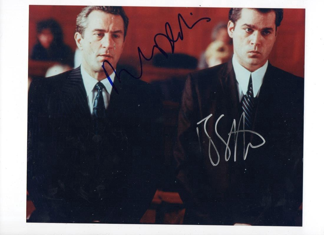 Robert Deniro & Ray Liotta Signed Autograph Good Fellas