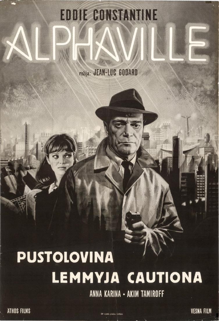 1965 Film Alphaville Yugoslavian Poster