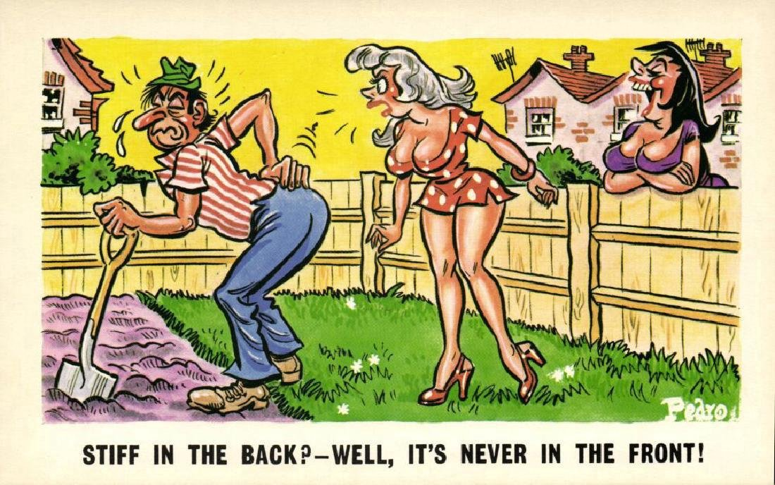 Lot of 10 Naughty Postcards - 10