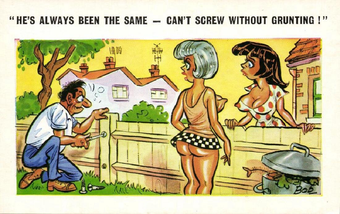 Lot of 10 Naughty Postcards - 2