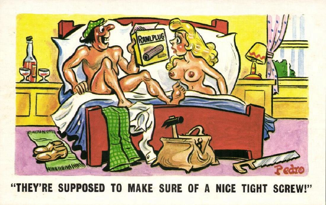 Lot of 10 Naughty Postcards - 6