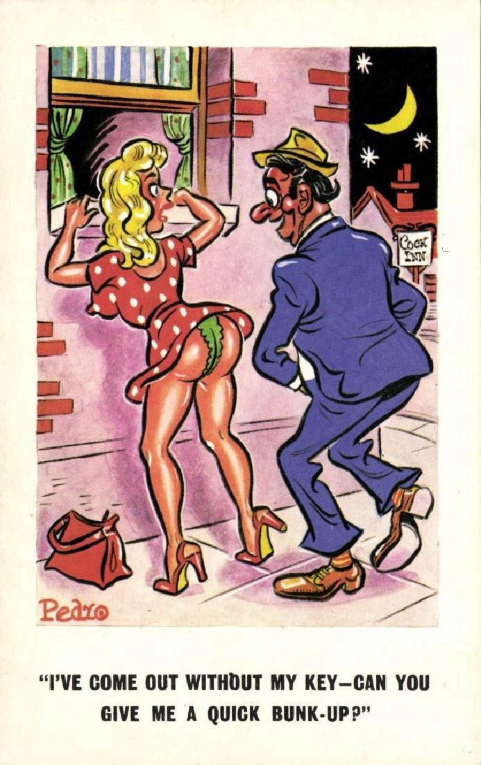 Lot of 10 Naughty Postcards - 7