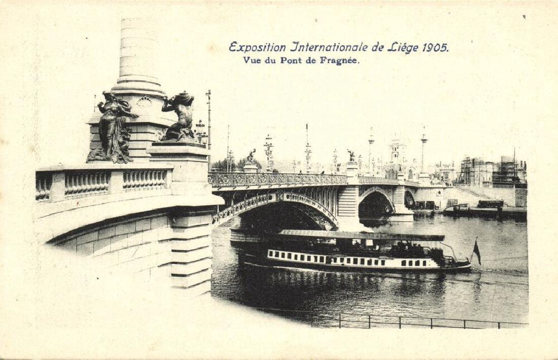 Lot of 9 Postcards International Expo 1905 Belgium