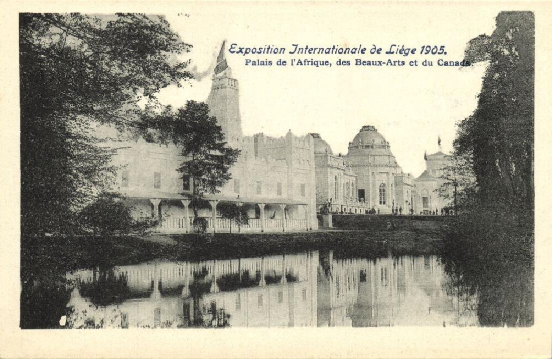 Lot of 9 Postcards International Expo 1905 Belgium - 4
