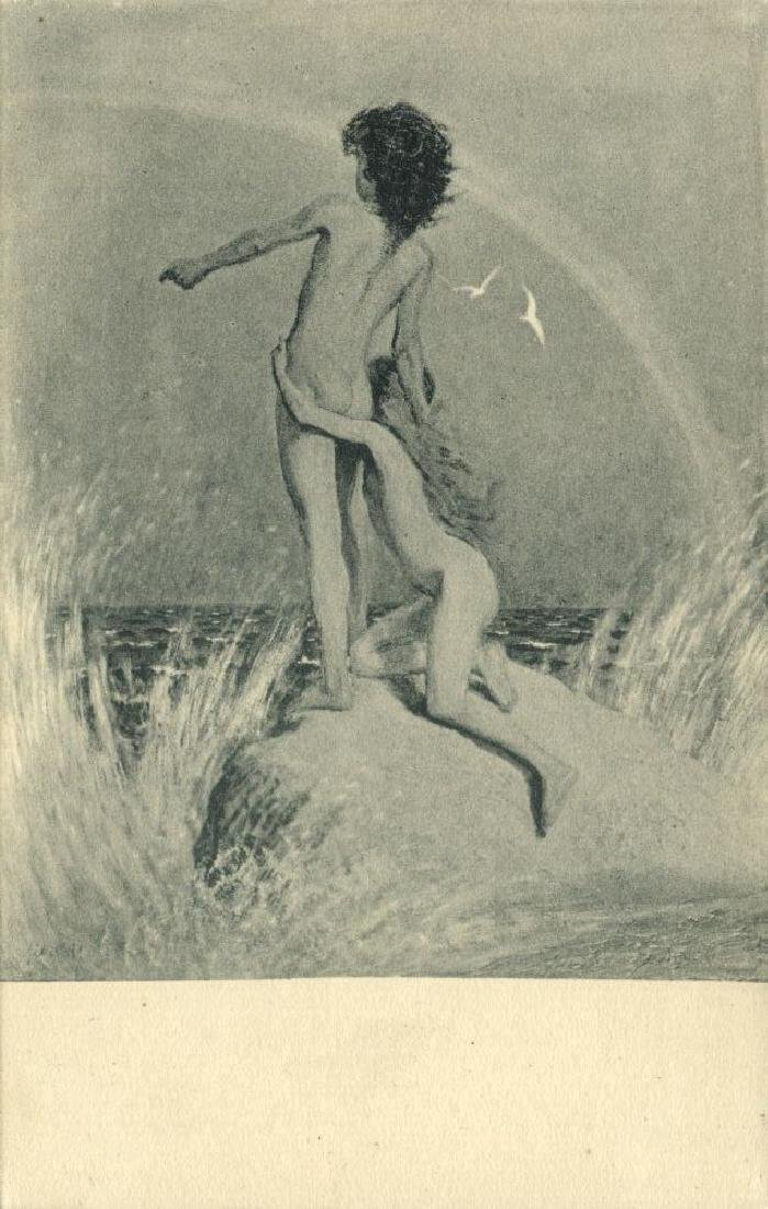 Lot of 3 Postcards, German Symbolist Artist Fidus