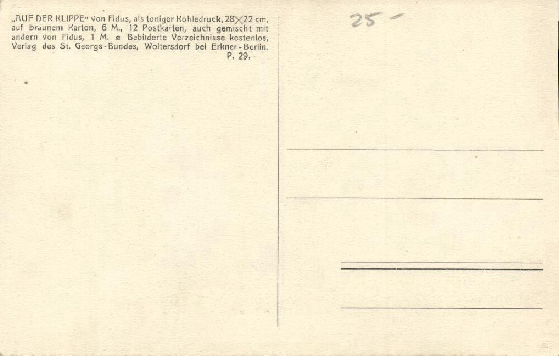 Lot of 3 Postcards, German Symbolist Artist Fidus - 2