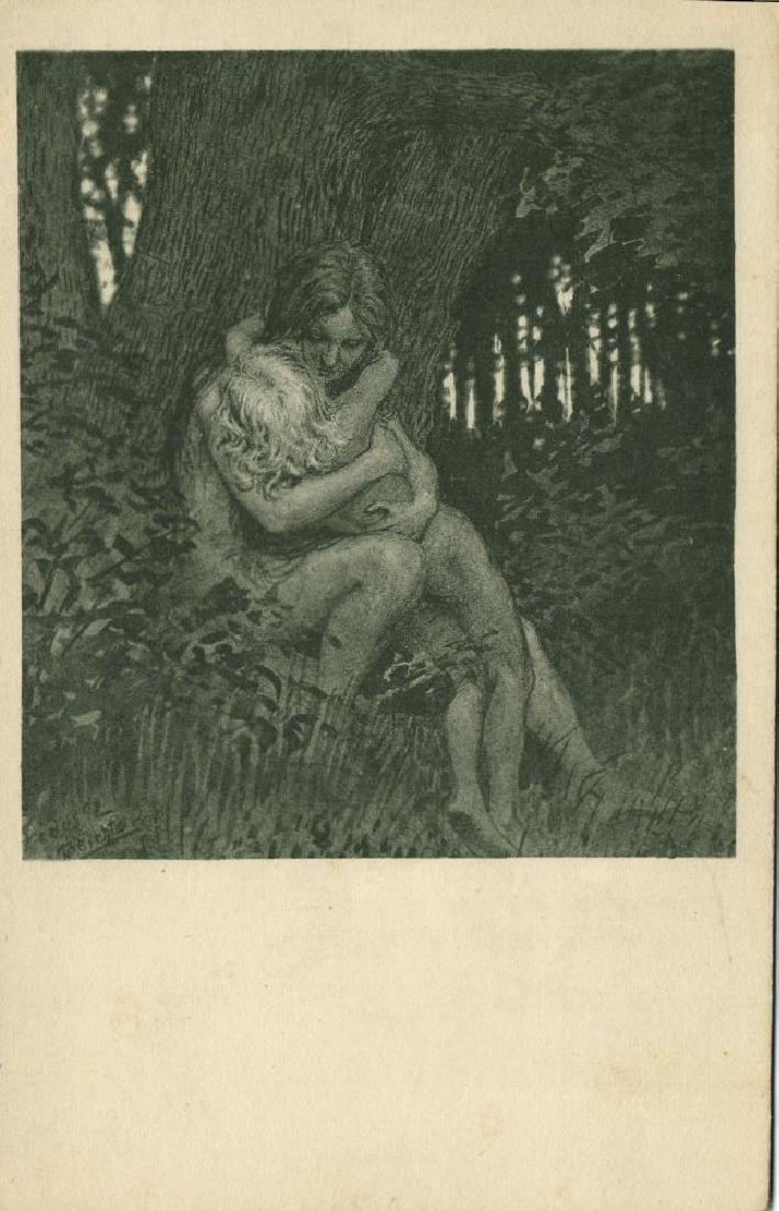 Lot of 3 Postcards, German Symbolist Artist Fidus - 3