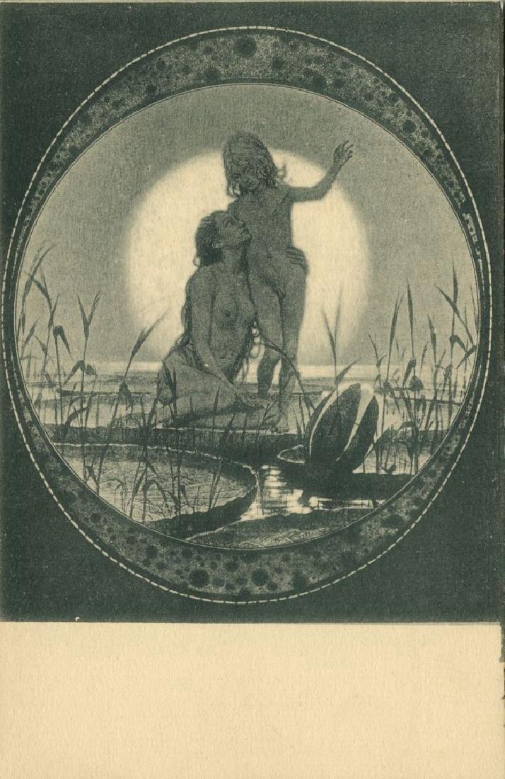 Lot of 3 Postcards, German Symbolist Artist Fidus - 5