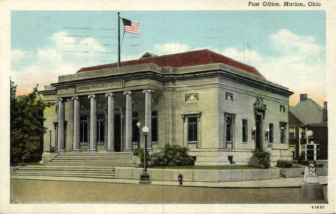 Lot of 10 Old Postcards of US Post Offices - 10