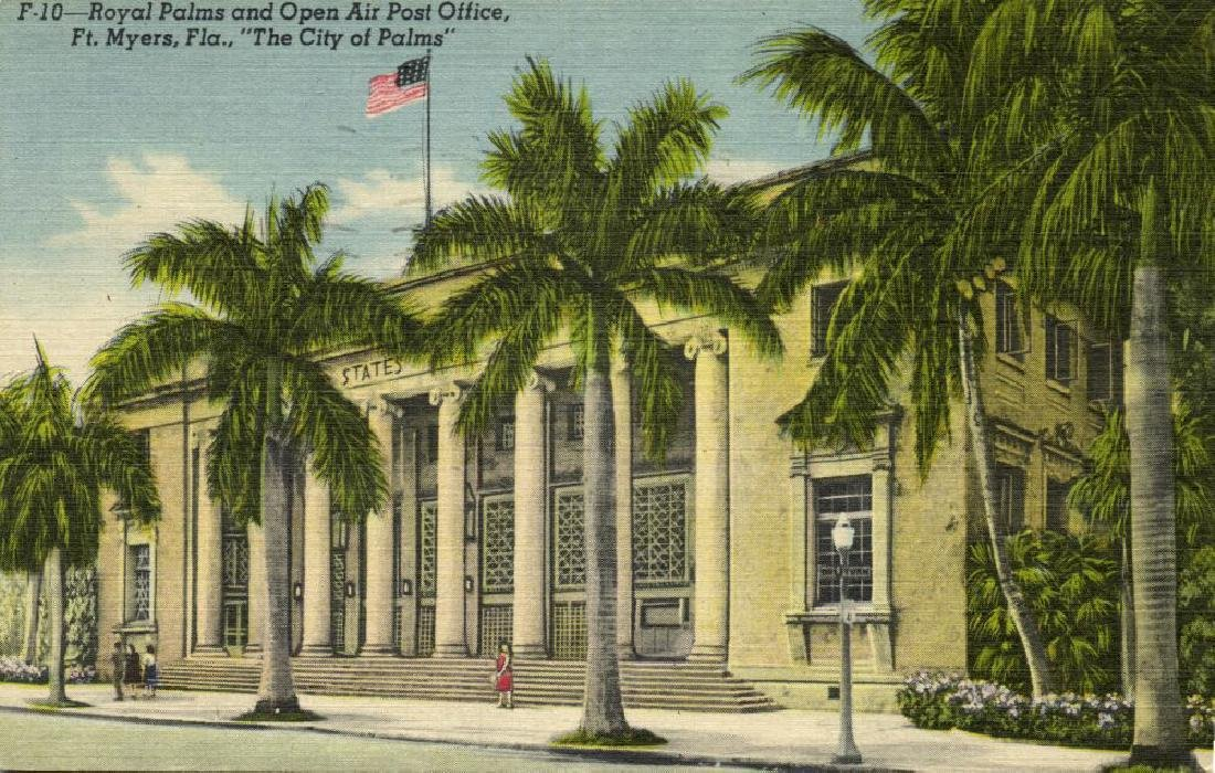 Lot of 10 Old Postcards of US Post Offices - 4