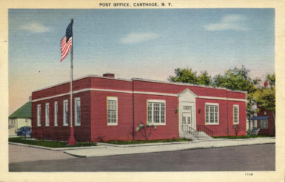 Lot of 10 Old Postcards of US Post Offices - 6