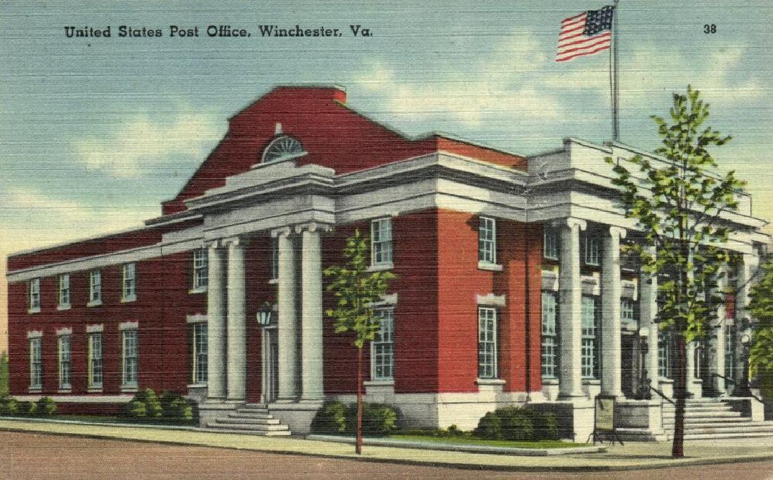 Lot of 10 Old Postcards of US Post Offices - 9