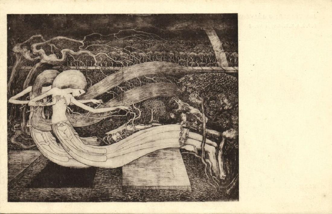 Lot of 10 Postcards Dutch Symbolist Jan Toorop Signed - 10