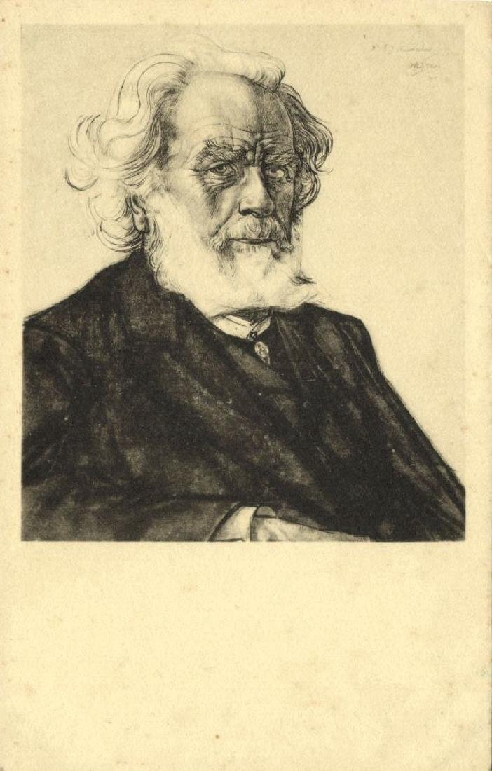 Lot of 10 Postcards Dutch Symbolist Jan Toorop Signed - 3