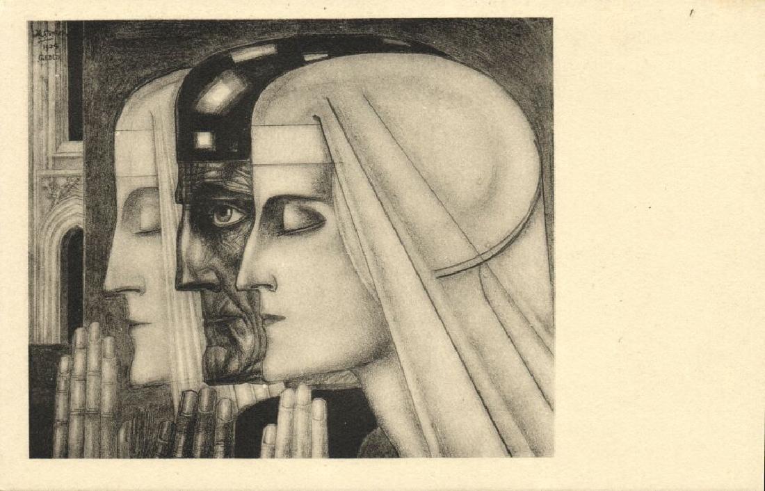 Lot of 10 Postcards Dutch Symbolist Jan Toorop Signed - 5