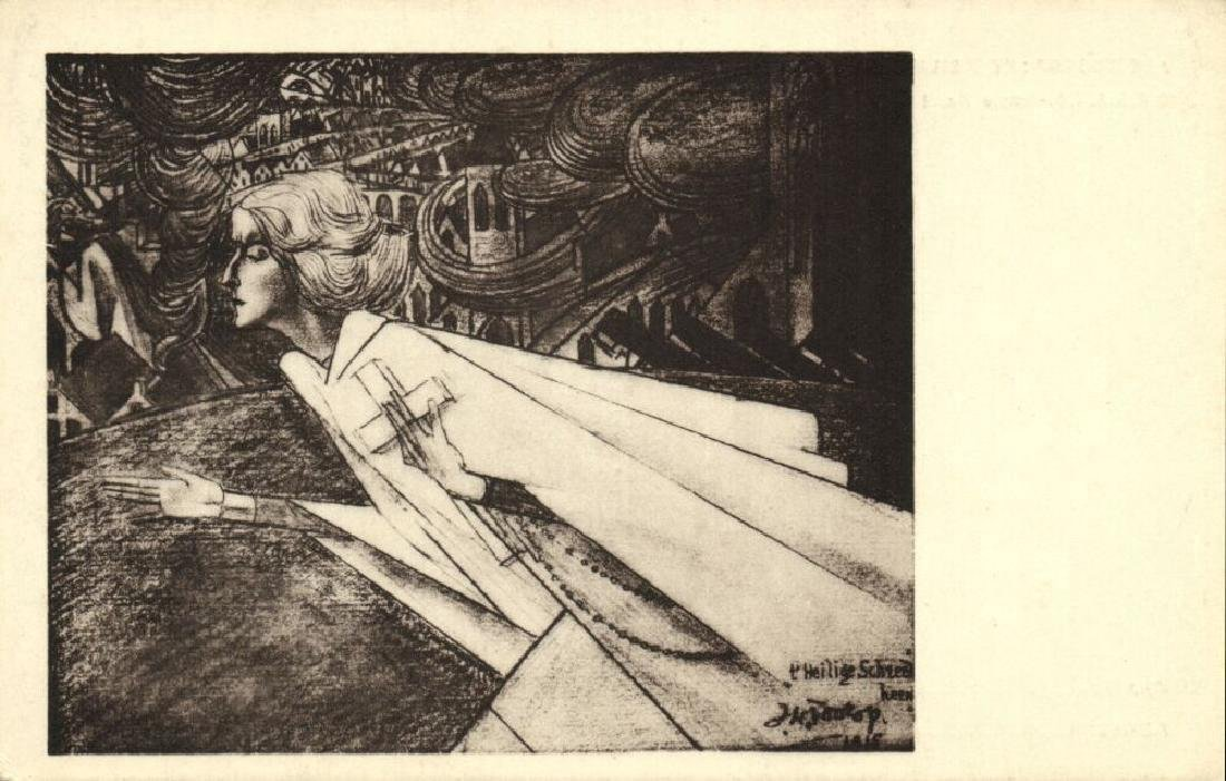 Lot of 10 Postcards Dutch Symbolist Jan Toorop Signed - 6