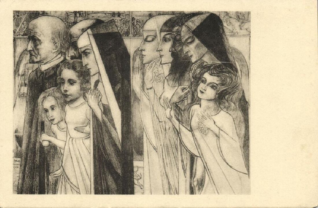 Lot of 10 Postcards Dutch Symbolist Jan Toorop Signed - 7