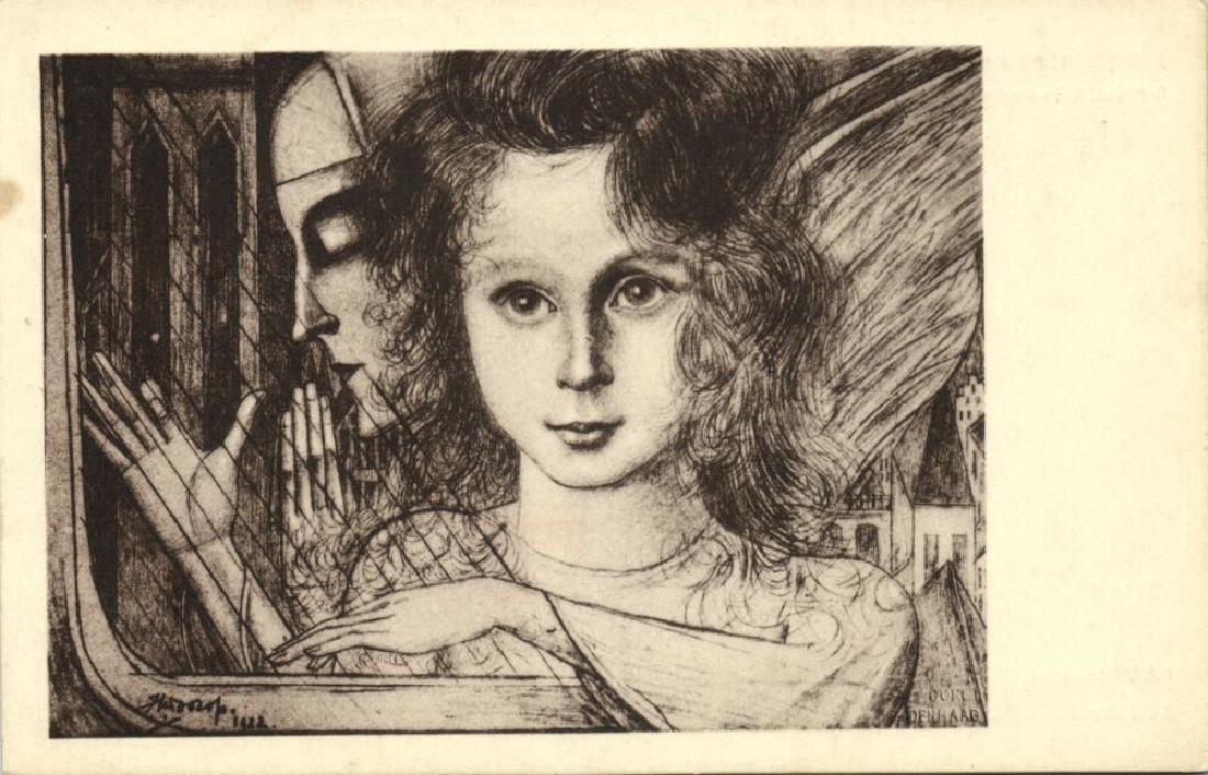 Lot of 10 Postcards Dutch Symbolist Jan Toorop Signed - 9