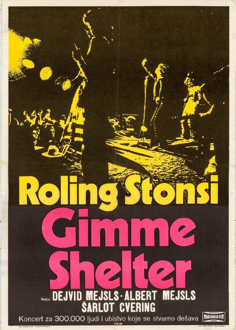 Gimme Shelter Rolling Stones Yugoslavian Poster