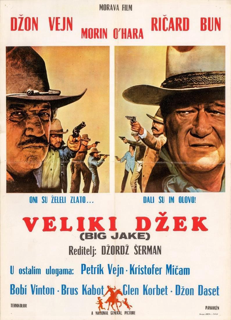 1971 George Sherman Film Big Jake Yugoslavian Poster