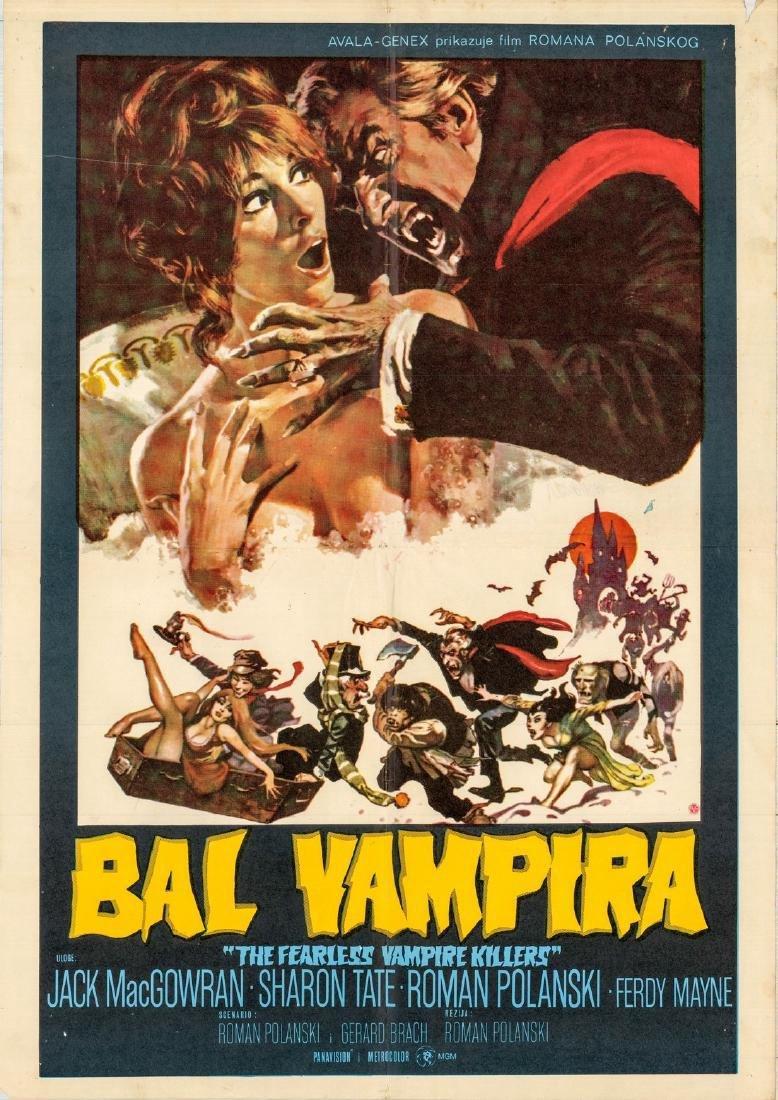 1967 Film Fearless Vampire Killers Yugoslavian Poster