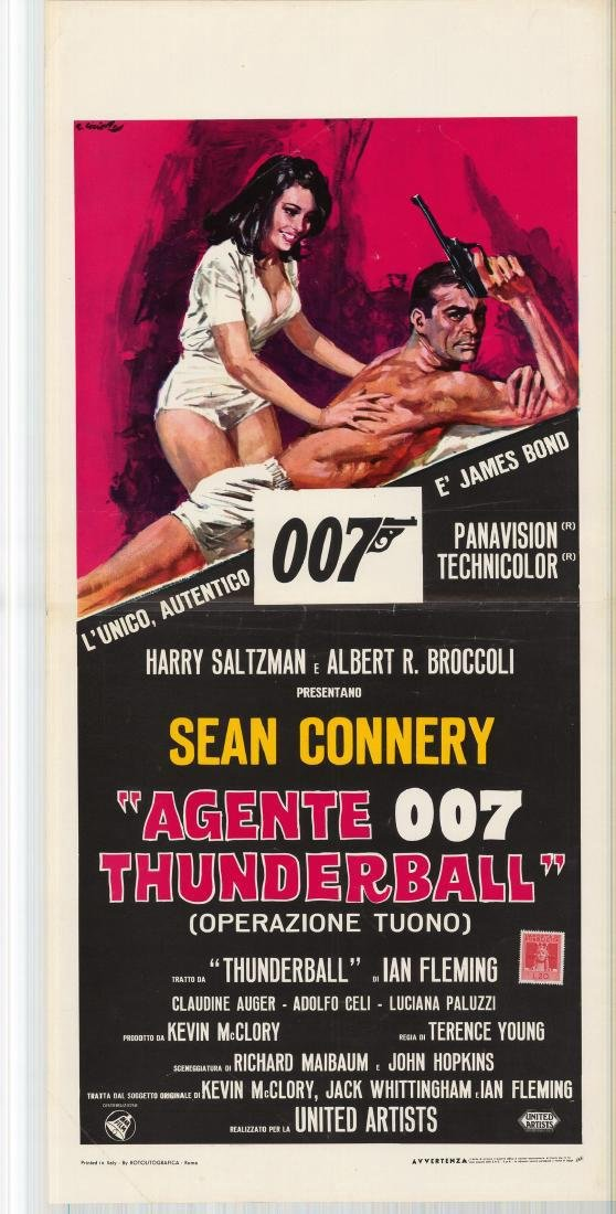 James Bond Thunderball Italian Locandina Poster